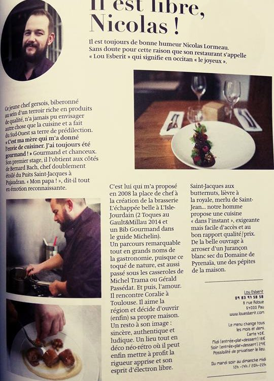 article restaurant pau